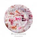 Набор тарелок фотоколлаж С днем свадьбы 18см 6шт