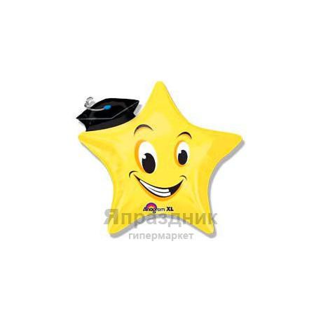 Фольгированный шар Звезда выпускник