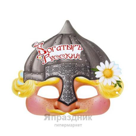 "Маска карнавальная ""Богатырь Русский"", 25,4 х 22,3 см"