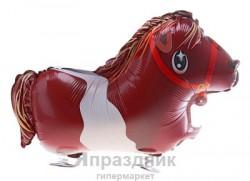 Шар фольгированный ходячий лошадка
