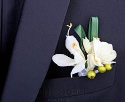 Бутоньерка but-60 айвори цветок с бутонами