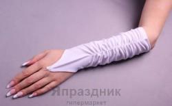 Перчатки невесты 5937 белый средние