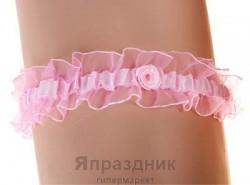 Подвязка podv-17 розовая узкая