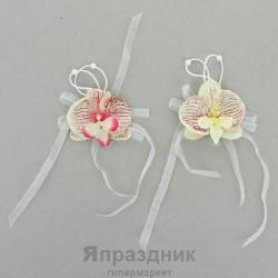 Бутоньерка на запястье brasl-9 орхидея