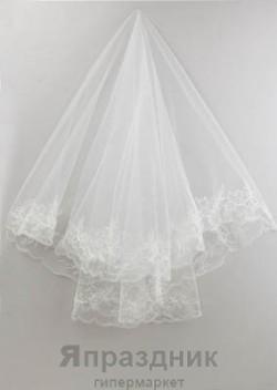 Фата невесты KMR_0099,0013 айвори 1,5х1,5