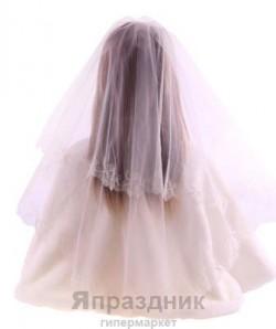 Фата невесты KMR_6085 айвори 1,5х1,5