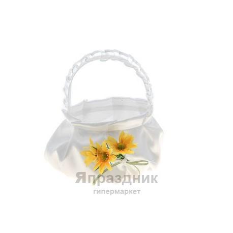 Корзина k-1 для лепестков роз, денег, конфет и тд. цветы в ассортименте