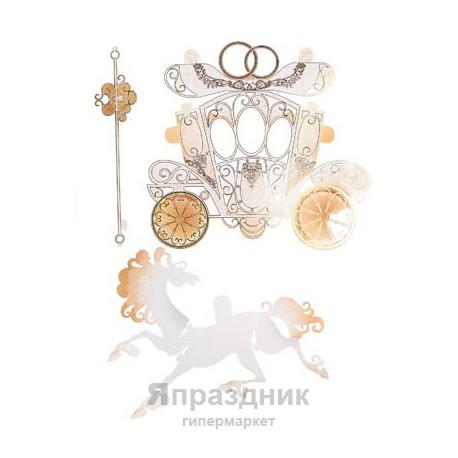 """Набор украшений """"С Днем Свадьбы!"""" на скотче"""