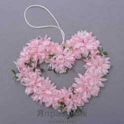 Подвеска-сердце с цветами podves-2 и миртом, 15х15 см