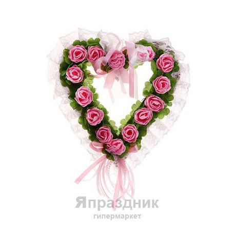 Сердце украшения для зала розовое