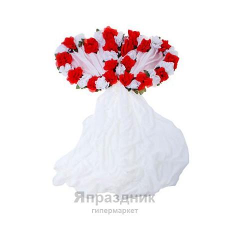 """Украшение для зала """"Два Сердца"""" с сиреневыми розами"""