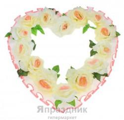 Украшение для зала УЗСРБр Сердце Бело-розовый