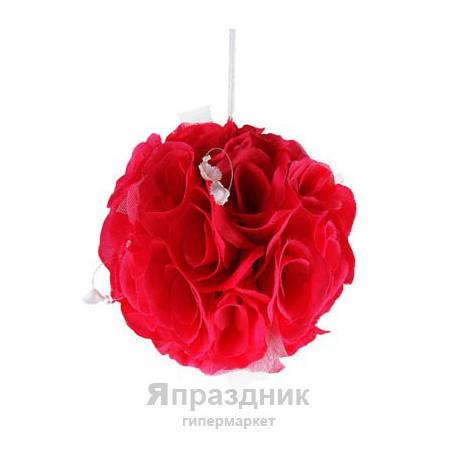 Шар одинарный пион красный podves-27 диам 20 см