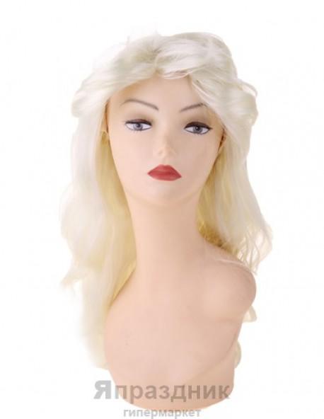 Карнавал парик блондинка длинные волосы концы волнами