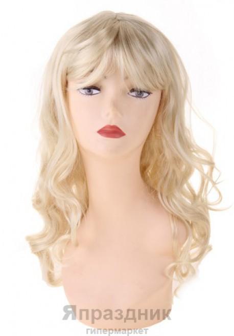 Карнавал парик блондинка длинный кудрявый волос