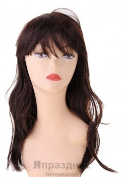 Карнавал парик шатенка длинный прямой волос