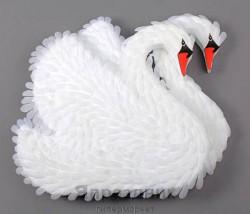 Лебедь на радиатор Лб01-00-0303 двойной 34смХ37см