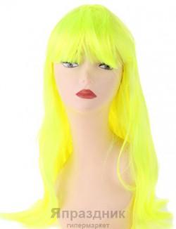 Карнавал парик длинные прямые волосы лимонного цвета