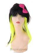 Карнавал парик черный лимонный цвет