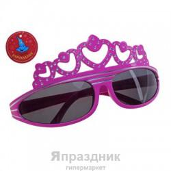 Карнавал очки корона блесткам 15*6