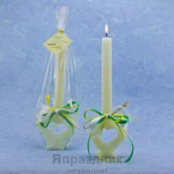 Свадебные свечи Открытое сердце Родительская свеча белая