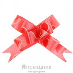 Бант-бабочка №1,2 рисунок сердца на красном