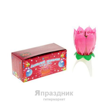 Свеча для торта Аленький цветочек