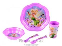 Набор пластиковой посуды из 5-ти предметов, Фея