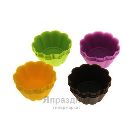 """Набор форм для выпечки 6 шт 7х3 см """"Ромашки"""", цвета МИКС"""