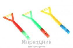 Свисток рогатка( карандаш+рогатка) цвет микс