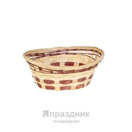 Корзина с подтянутыми концами, плотное плетение 21х16х10 см 2308-S бамбук