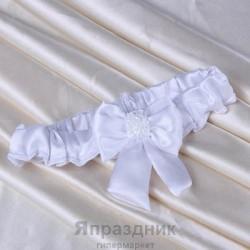 Подвязка с рубленым бисером