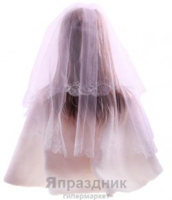 Фата невесты KMR_6085 белый 1,5х1,5