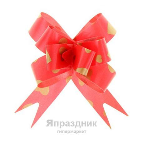 Бант-бабочка №1,8 рисунок сердца на красном