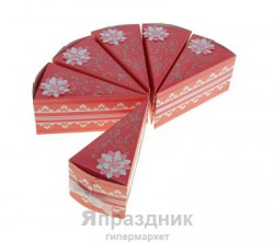 """Бонбоньерка """"Тортик"""" СкрБон02-00-0503 6,5х6х12см розовый - белый"""