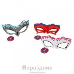 Карнавал очки маска таинственная незнакомка цвета микс 7*18