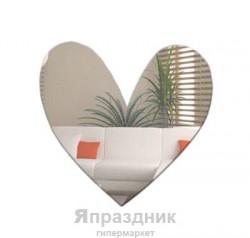 """Наклейка зеркальная """"Сердце"""" 30х21 см"""