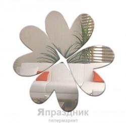 """Наклейка зеркальная """"Цветок из сердец"""" 30х21 см"""
