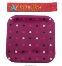 Набор тарелок квадратных Цветной горох 23см 6шт