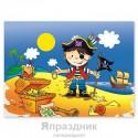 Скатерть полиэтиленовая Маленький пират 130х180см