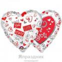 Шар ILY Просто с любовью 48см