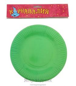 Тарелка круглая зеленая ( набор 6 шт) D-18