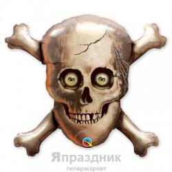 Шар фольга Череп и кости