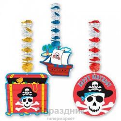 Фигурки на пружинке Пираты 76см 3шт