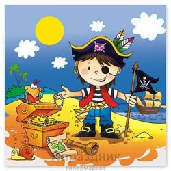 Салфетка Маленький пират 33см 12шт/G