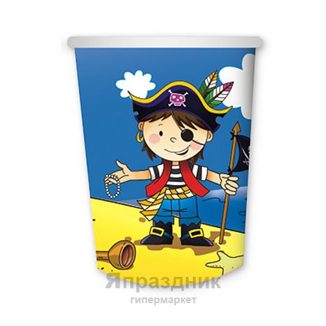 Набор стаканов Маленький пират 6шт