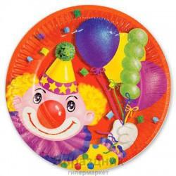 Набор тарелок Клоун с шарами 17см 6шт