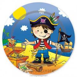 Тарелка бум Маленький пират 23см 6шт/G
