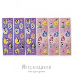 Наклейка Disney Принцессы 8 листов/A