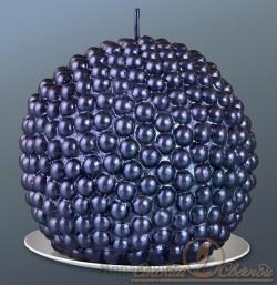 Свеча шар жемчужный темно-фиолетовый 7513